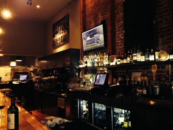 The remodeled bar extends the length of what was the dining room at the remodeled K & L Bistro