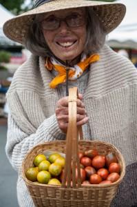 Nancy Skall, Fall, 2014, at the Sebastopol Farmers Market