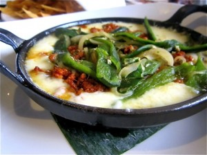 Queso fundido--with or without chorizo--is so delicious and filling that is is better as a main course than as an appetizer.