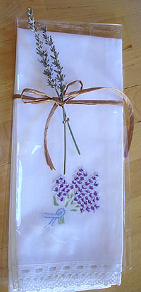 Lavender Tea Towels, a lovely gift, including for yourself